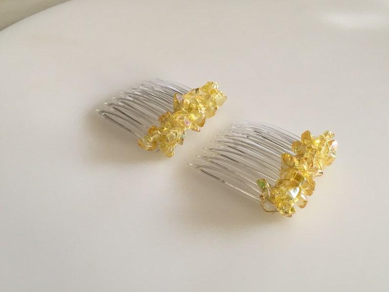 CO477 40mm Primrose Yellow Mini-Comb Pair