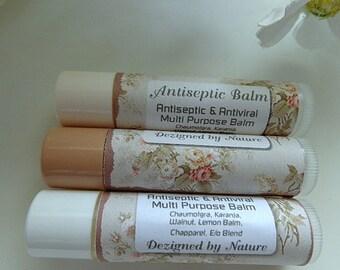 2 Antiseptic Balms, Lemon Balm, Pack of 2 Multi Purpose Healing Balms