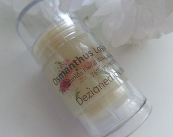 Osmanthus, Natural Solid Lotion & Perfume Stick, Vegan, Floral Wax Perfume