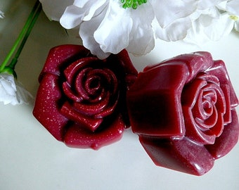 Rose Clay Soap, Natural Rose Soap, Women's Shave Soap