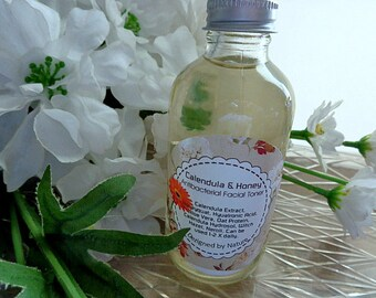 Calendula, Honey & Oats - Gentle Antiseptic Facial Toner/Cleanser, Antibacterial and Anti Inflammatory with HA