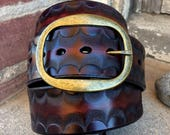 Autumn Sunset Handcrafted Leather Belt