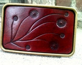 Oxblood VIne Leather Buckle