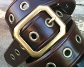 Cordovan Cocoa Eyes Handcrafted Leather Belt