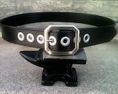 Solid Vintage Noir Handcrafted Leather Belt