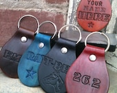 Personalized Handmade Leather Keychains