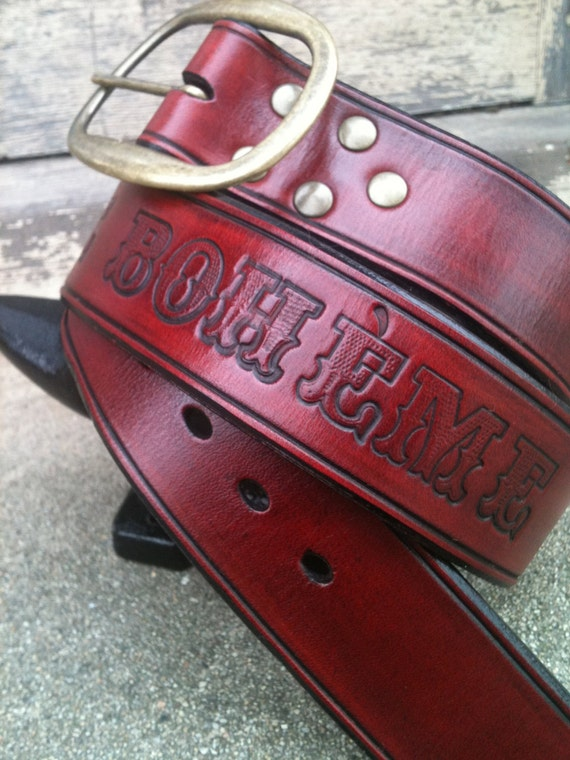 Nouvelle Bohème Handcrafted Leather Belt (Limited Edition)
