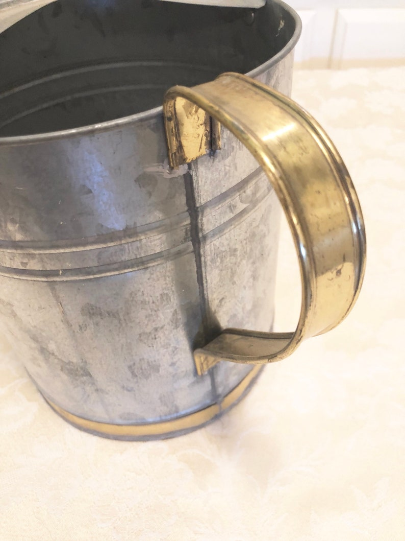 Galvanized Watering Can Galvanized Shower Tip Guided Watering Can Retro Garden Garden Decoration Galvanized Gallon Can