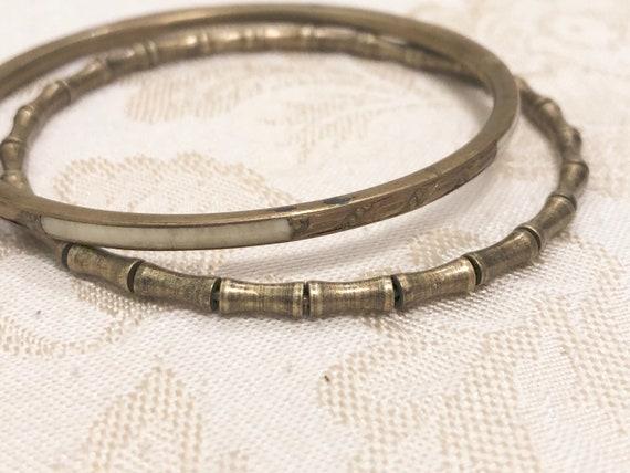 Vintage,Bangles,Brass And Enamel Bangles,Bracelets,Shell Bangles,Vintage Bangles,Brass Bangle,Shell,Brass,Indian Bangles