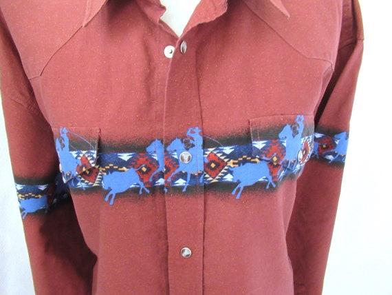 Vintage Roper western shirt 2XL, cotton cowboy sh… - image 3