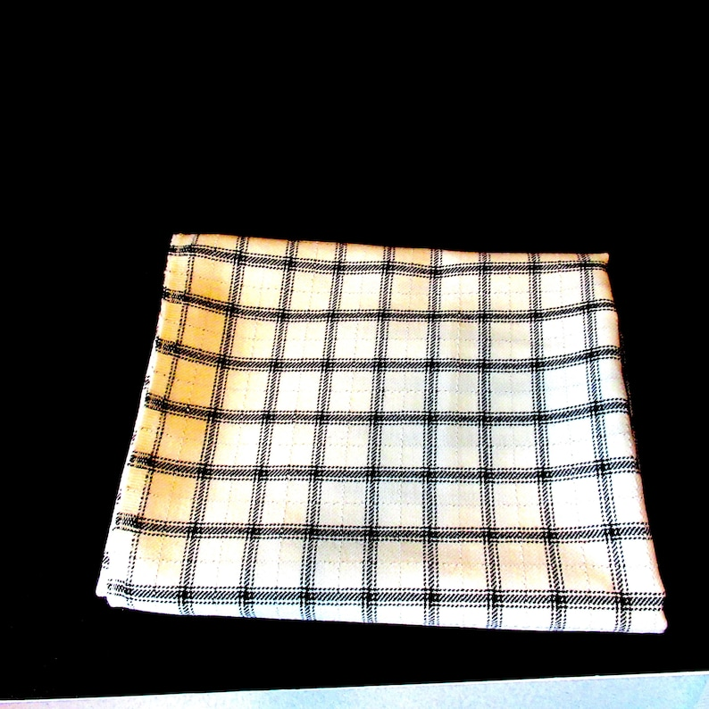 fabric supplies plaid wool fabric plaid design pillow fabric fabric remnant destash fabric cream blue plaid Wool Fabric 47 x 60ins