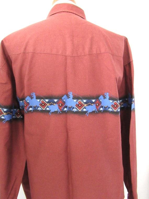 Vintage Roper western shirt 2XL, cotton cowboy sh… - image 5