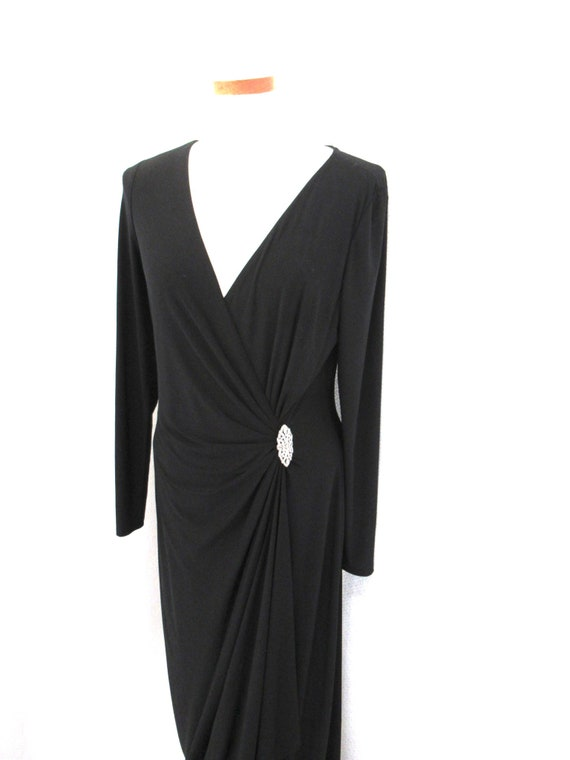 Vintage Ralph Lauren evening dress, long black dre