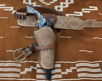 """Clint Eastwoods """"Man with no Name"""" Walk n Draw Gun Rig. Made to Order."""