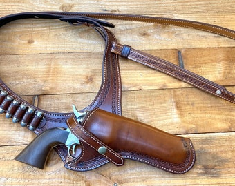 Shoulder holster with Safety strap. Made to Order.
