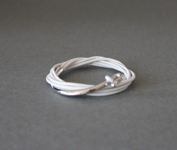 multi tour silver plated white metal white brass bracelet