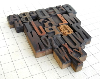 A to Z - Vintage Letterpress Wood Type Collection -VG108