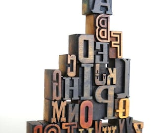 A to Z - Vintage Letterpress Wood Type Collection VG200