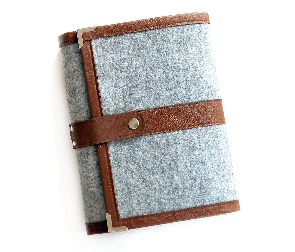 Gray Brown Planner Cover / Ring Binder /organiser/ Daily
