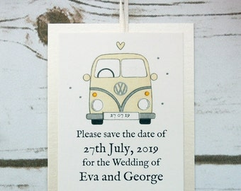 Campervan Save the Date Cards