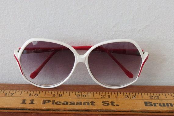 Evel Kinevel White Red 70s Sunglasses Frames ITAL… - image 1