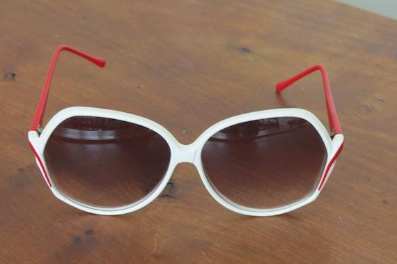 Evel Kinevel White Red 70s Sunglasses Frames ITAL… - image 5