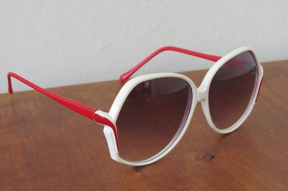 Evel Kinevel White Red 70s Sunglasses Frames ITAL… - image 2