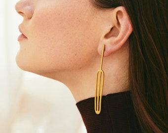 Leaf earrings, Real leaf earrings, Statement earrings, Black leaf earrings,  Long dangle earrings, Botanical earring, Sea Buckthorn earrings