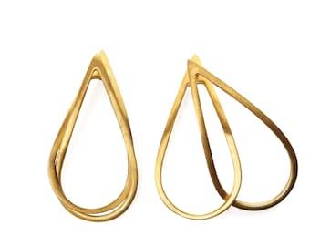 Interlocking ear jacket earrings ~ Drop Interlocking Earrings ~ Interchangeable Dangle Earrings - Double Drop Earrings