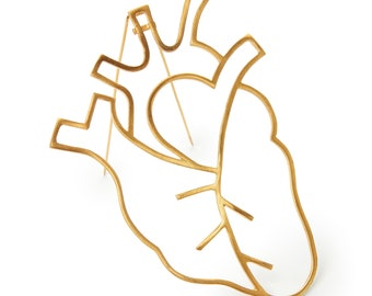 Anatomical Heart Brooch ~ Human Heart Pin ~ Nurse Pin ~ Doctor Gift
