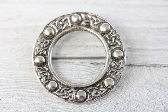 Vermeil Celtic Brooch Vintage Silver Gilt 925 Celtic Knot Brooch Celtic Silver Brooch