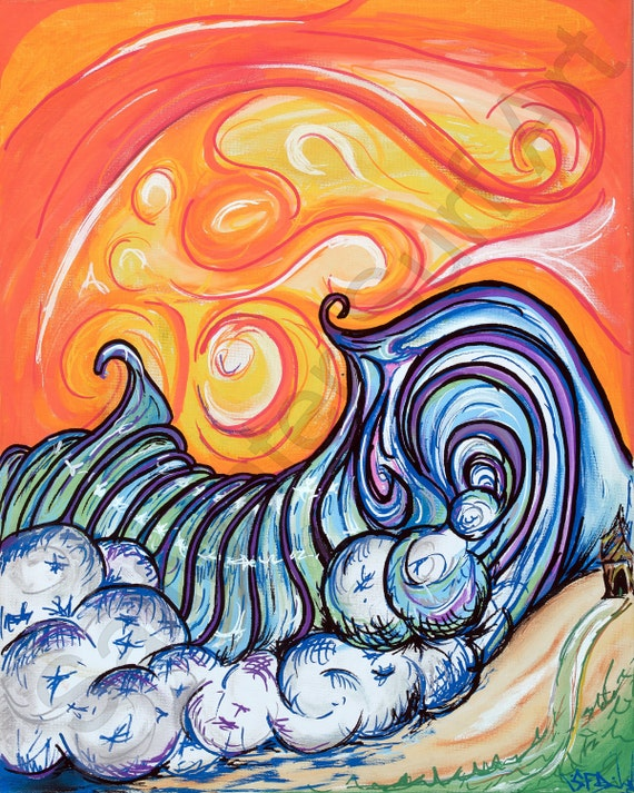 Surf Art Tahiti Orange Wave Giclee Canvas Surf Art by Saltwater Surf Art