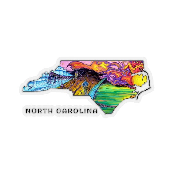 NC Surf Art Stickers