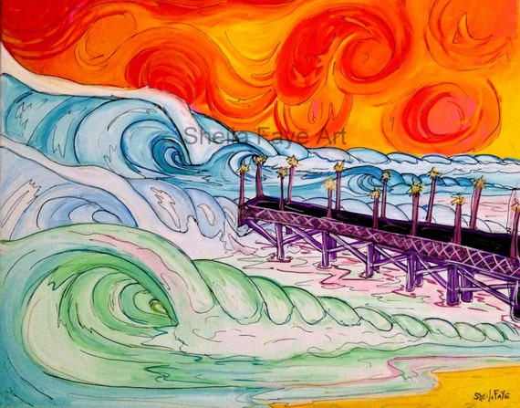 Turbulent 16x20 Original Surf Art on Canvas