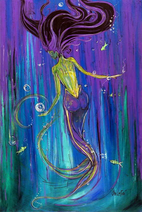 Abyss Mermaid, Fine Art by Sheila Faye