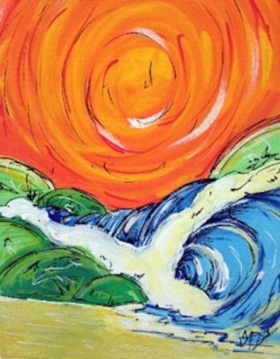 Little Orange Wave, 8x10 print on fine art paper