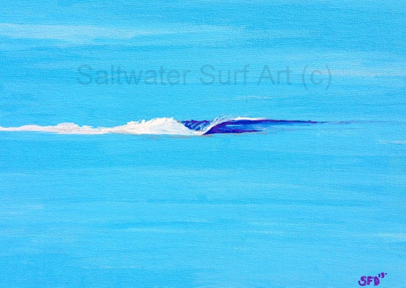 Surf Art When the Ocean Meets the Sky, 8x10 matted to 11x14 fine art print