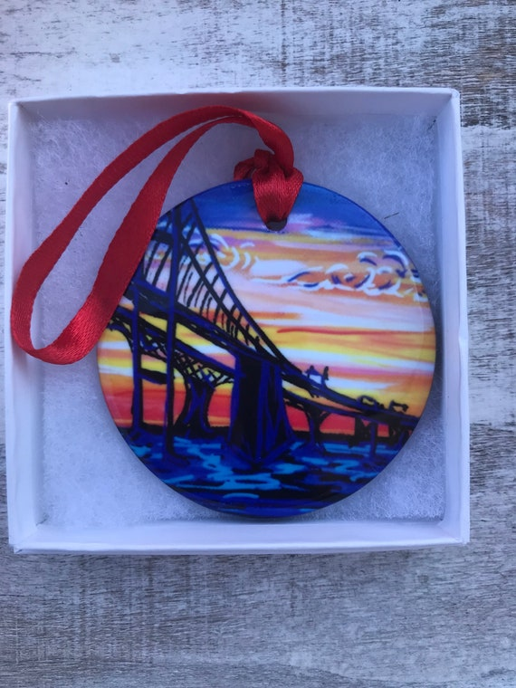 Bay Bridge Christmas Ornament