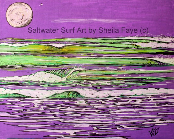 Purple Barrels Surf Art Fine Art Print 11 x 17