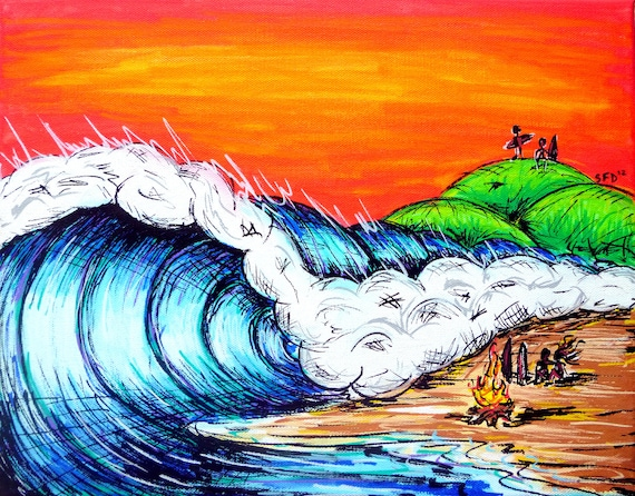 Surf Art 11x14 Giclee Canvas Print, The Life
