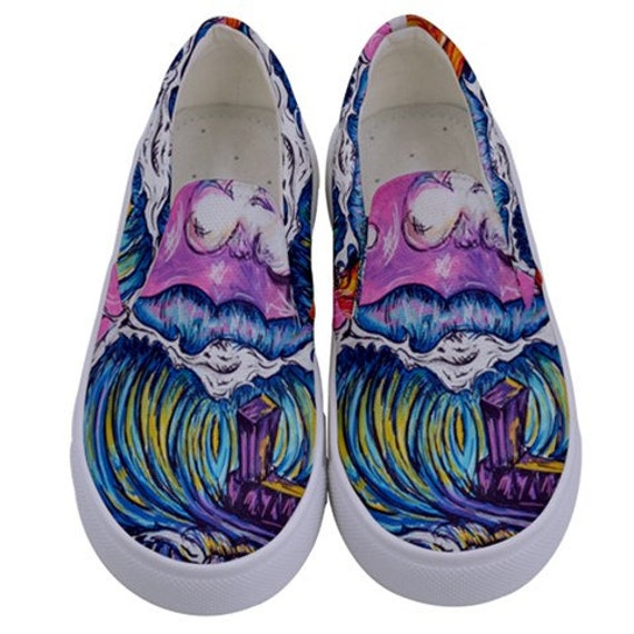 Surf Art Shoes, Garden City, Canvas Slip on Shoes