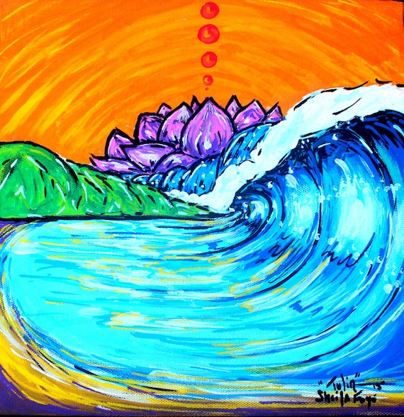 Tulin, Costa Rica Surf Art Print 8x8 on fine art paper