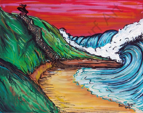 Bells Beach Australia, Giclee Canvas Print 11x14