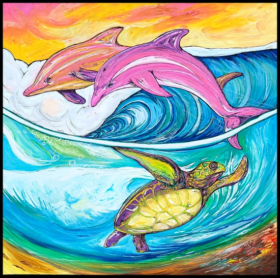 Sea World, Fine Surf Art by Sheila Faye