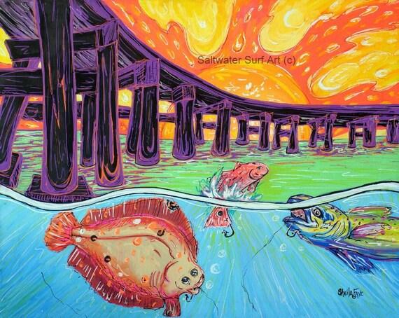 Fish Fry 11x17 Fine Art Print