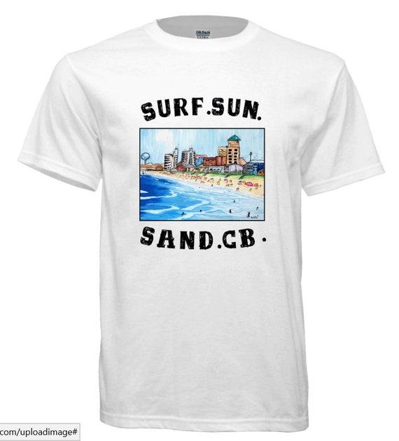 Surf, Sun, Sand, CB. Surfing t-shirt