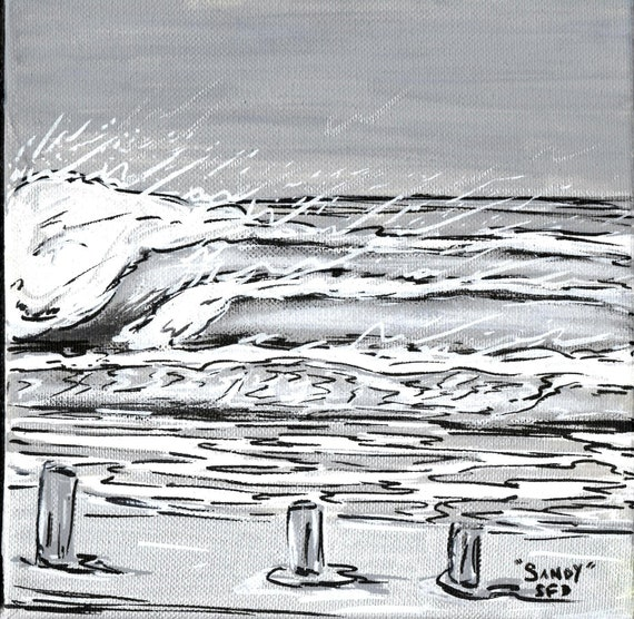 Hurricane Sandy Swell Original 8x8