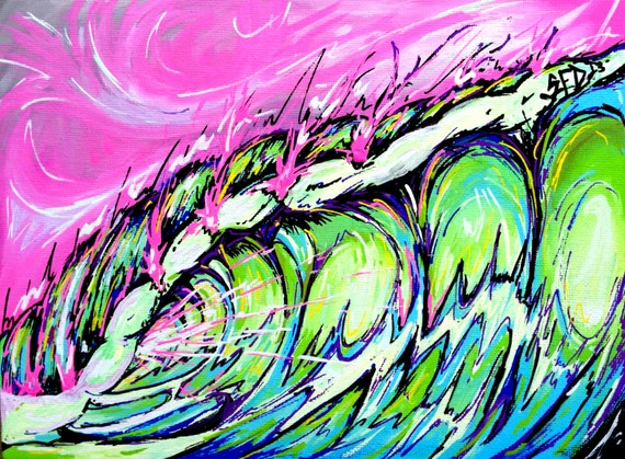 Fierce Wave, 8x10 Fine art Surf print