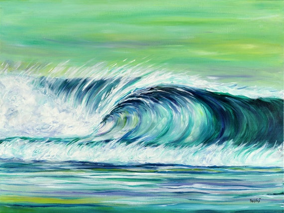 Off Shore, 18x24 Gallery Wrapped Limited Edition Giclee Canvas Print