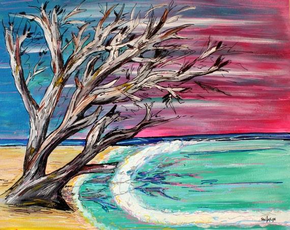 Bahamas Beach Surf Art Fine Art Print 11 x 17
